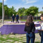 Mayra Mendoza destacó la puesta en valor de la plaza Suiza de Barro Parque Bernal