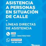 Operativo Frío: El municipio local refuerza la asistencia a personas en situación de calle